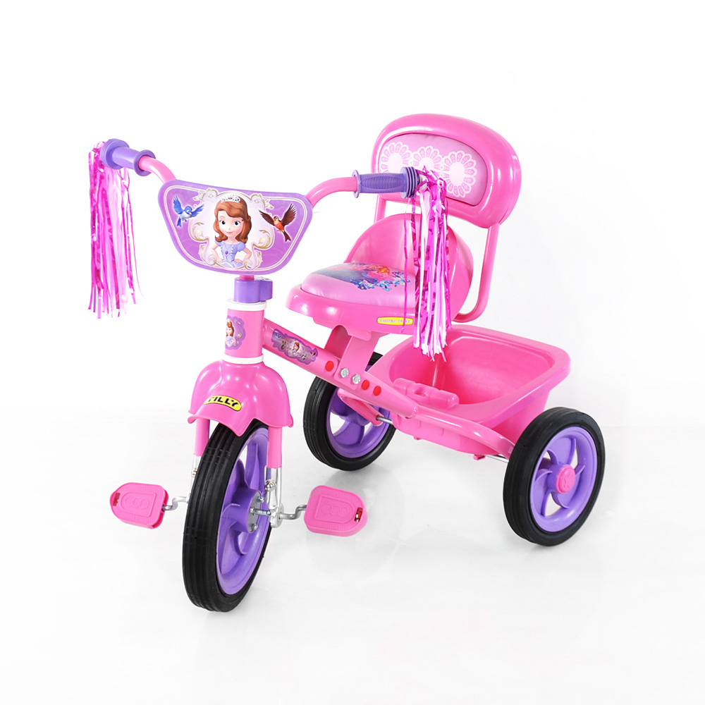 Велосипед TILLY COMBI TRIKE BT-CT-0008 PINK  вид спереди